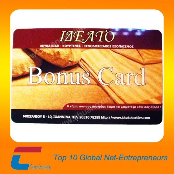 plastic 13.56MHz pvc NFC Card Contactless Smart Card