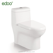 EDOO Best selling ivory color toilet sanitary ware siphonic one piece toilet ivory color toilet