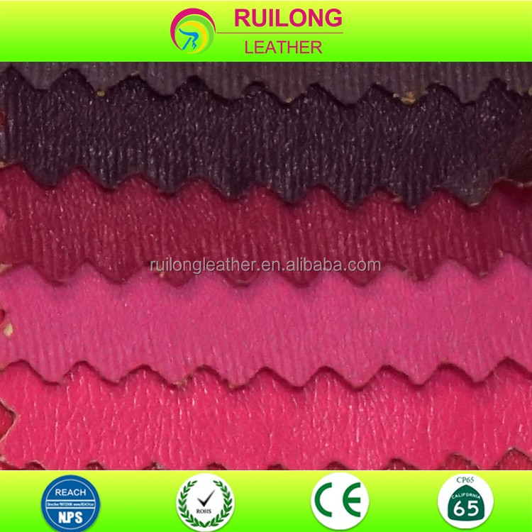 Dyed garment fabric soft faux pu leather artificial cloth sewing material