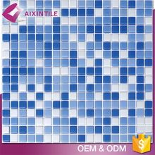 Foshan 2017 New Design Mosaic Swimming Pool Sea Glass Tiles