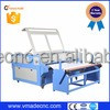 Fashion cotton fabric laser cutting textile machine leather craft /1600*1000mm knitted woven jeans laser cutting machine