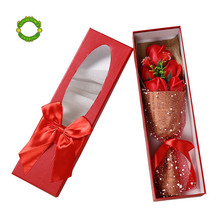 One set single rose flower box One set single customized luxury packaging flower boxes customized flower boxes