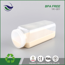 China cheap bpa free pet plastic 12oz drainking milk container 700ml drinkware square shaped water bottle