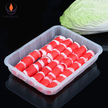 Disposable plastic frozen food packaging meat packing trays