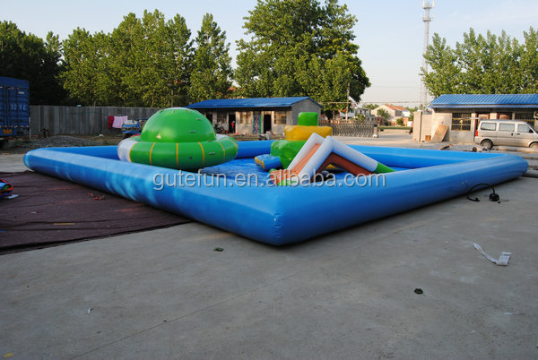 China first brand pvc two-rings inflatable paddling pool