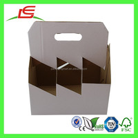 E0031 6 Pack Beer Bottle Custom Printed Corrugated Portable Wine Carrier Wholesale