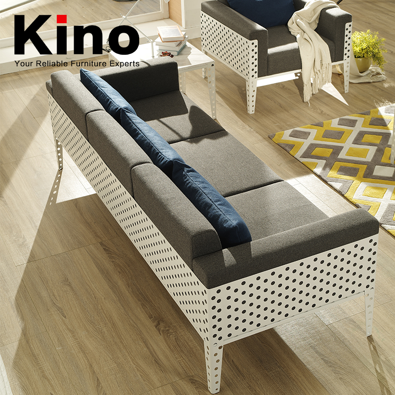 New style metal frame punching sofa, frame outdoor powder coated/living room or office furniture