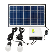 15W solar panel system for home LED light and mobile phone