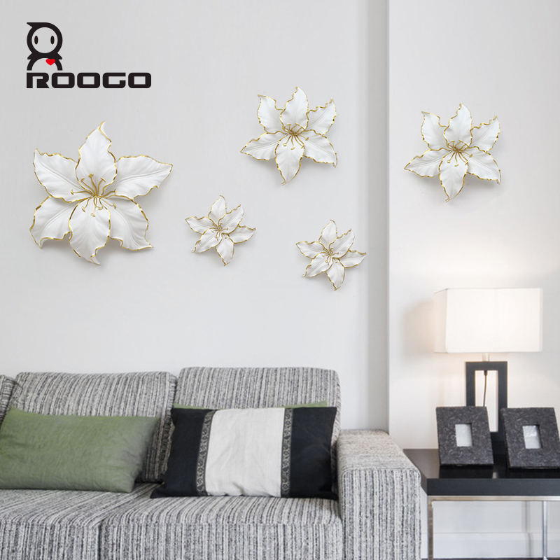 Wholesale Roogo Modern Resin Strong Metal Strong Lily Large