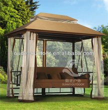 Factory price outdoor garden swing hanging chair double cover