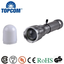5W Zoom Hunting Flashlight Torch 100 lm Lattice LED Rechargeable High Power Flashlight LED With Lampshade