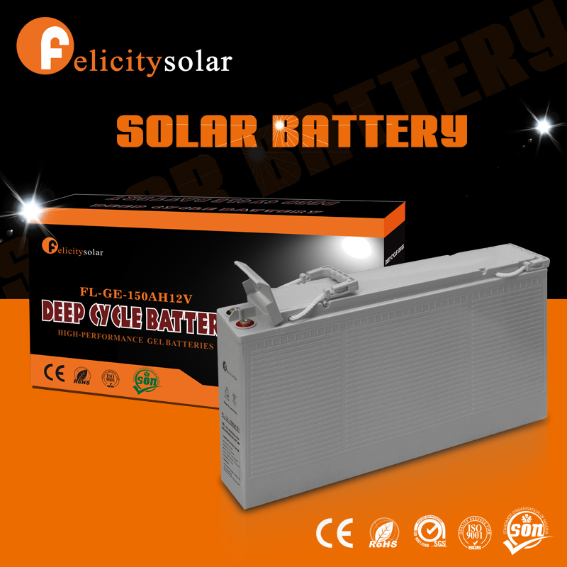 Power rechargeable deep cycle 12v 150ah agm battery made in china