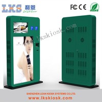 Multimedia Touchscreen Information Wifi Kiosk With Barcode Reader