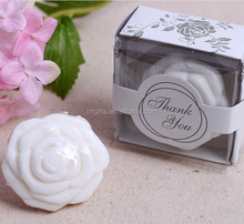 Ywbeyond Romantic white rose shaped soap cheap wedding gifts, best wedding thank you gifts for women