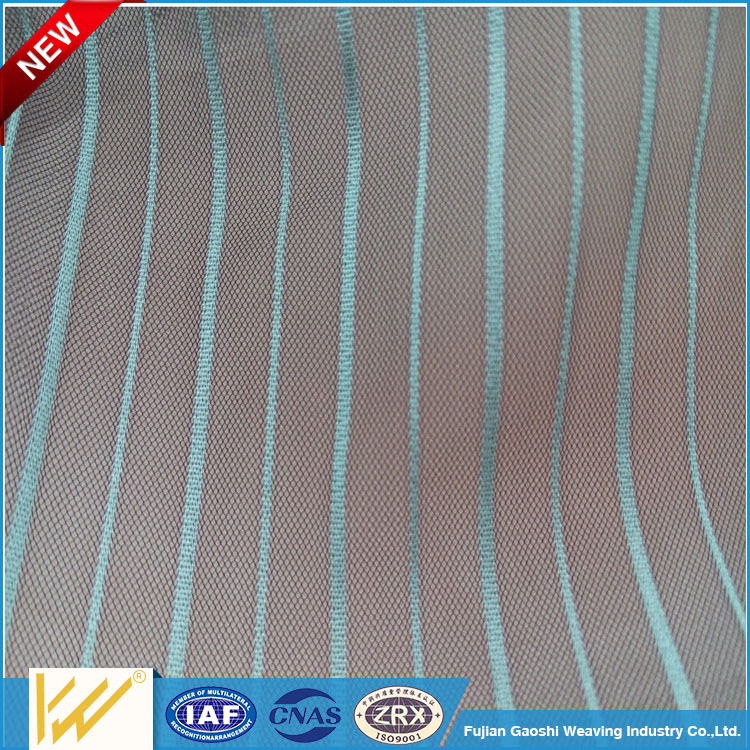 20D ripstop Nylon vertical strip America mesh fabric with cheap price