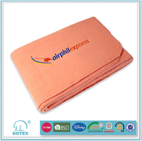 Famous Airlines in cooperation Anti stretch machine washable multifunction blankets made in india