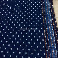 cotton printed denim fabric