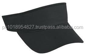 Black color polyester Mesh Sports Visors, in all colors and custom printing