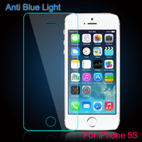 anti blue light 9h hardness tempered glass screen protective film for iPhone 5/5c/5s