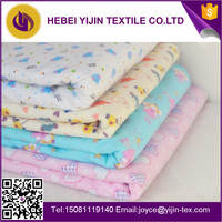reactive printed 100% cotton flannel fabric for baby bedding sets swaddle blanket