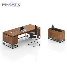 Professional Manufacturer High Quality Sand White Steel Frame Modern Furniture T Shaped Unique Office Desk