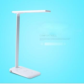 Desk lamp with usb charging station outlets and usb Adjustable neck stand tilts and allows you to position the light in optimal