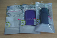 Phone Accessories Bags ac charger ziplock bags/ac charger plastic packaging bags with euro slot
