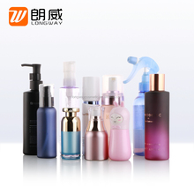 plastic material and diamond shape with flip cap cosmetic pet bottle 30ml/50ml/100ml/150ml/200ml/250ml