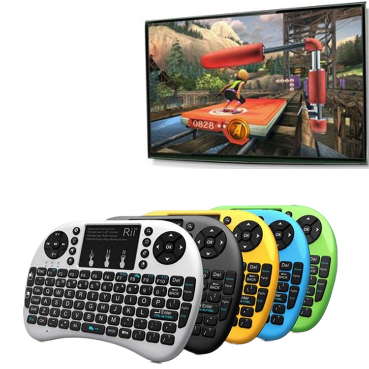 New styles The Ergonomically handheld design i8 wireless keyboard for android tv box rii i8 multimedia keyboard