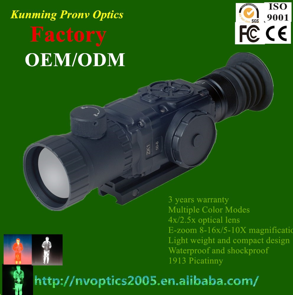 zk1-50-6 long range thermal night vision, night vision riflescope