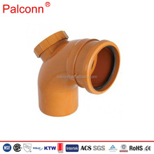 110mm 160mm Orange and grey color PP PVC sewage pipe drainage pipe fitting