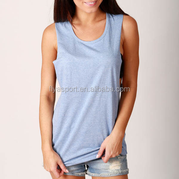 NEW Casual Style Deep Cut WOMENS Street Wear Gym Workout Tank