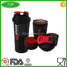 Wholesale Shaker Bottle 500ml Mixer Protein Powder Sport Smart Shake