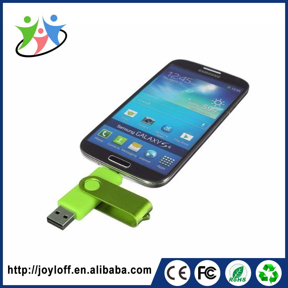 Volume Manufacture Dual Double Plug Interface Otg Mobile Phone Pc Novelty Metal Usb Flash Drive