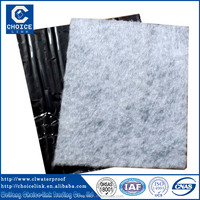 1.2mm fiberglass felt Self Adhesive Bitumen Waterproof Membrane with aluminum foil