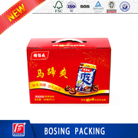 Corrugated paper box for beverrage packaging