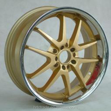 Hot-sell golden machine lip car alloy rims 18 inch export to UK