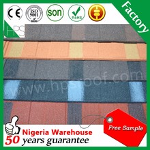 High quality stone coated roofing sheet / stone coated steel roofing sheet