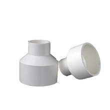 Food Grade White PVC Pipe Connector For Indoor Hydroponics System