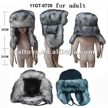 Husky Faux Fur winter trapper hat Ushanka Mens animal fur Winter Hats