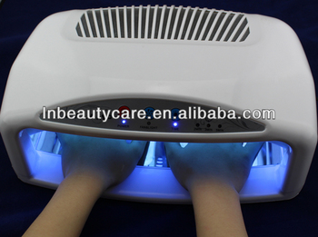 Good price !!! 54 watts UV Gel Nail Lamp Gel Curing UV Light with timer and fans , can cure both hand and foot