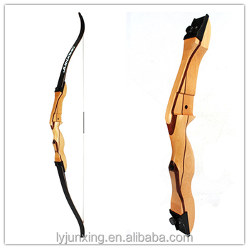 F168C wood target shooting recurve bow for beginners, whole archery bow set