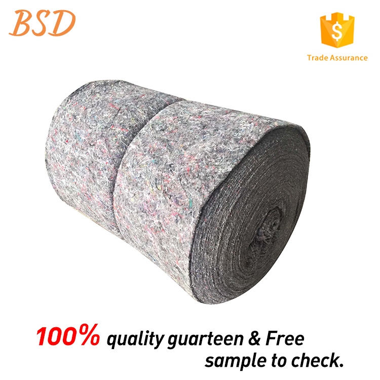 Waterproof 100% recycled felt moving blanket nonwoven fabric with discount