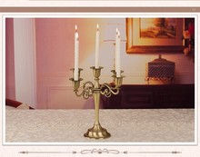 Free shiping Silver/Gold/Bronze metal candle holder 5-arms candle stand 27cm tall wedding event candelabra candle stick