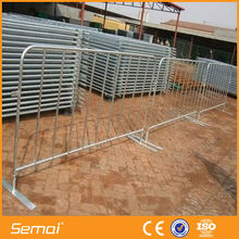 flat base shaped temporary fence base crowded control safty barrier