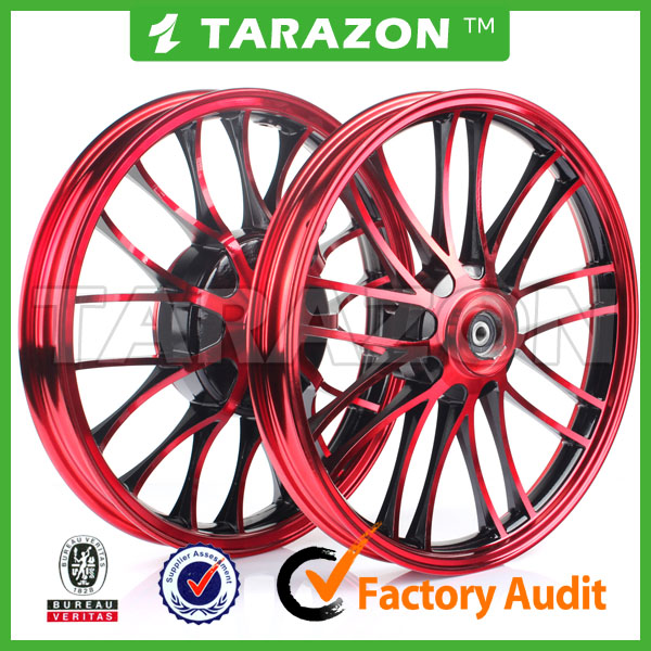 CNC Aluminium alloy Red Motorcycle wheels for scooter BWS 125