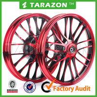 high quality motorcycle red CNC stunning Aluminium alloy wheels for scooter BWS
