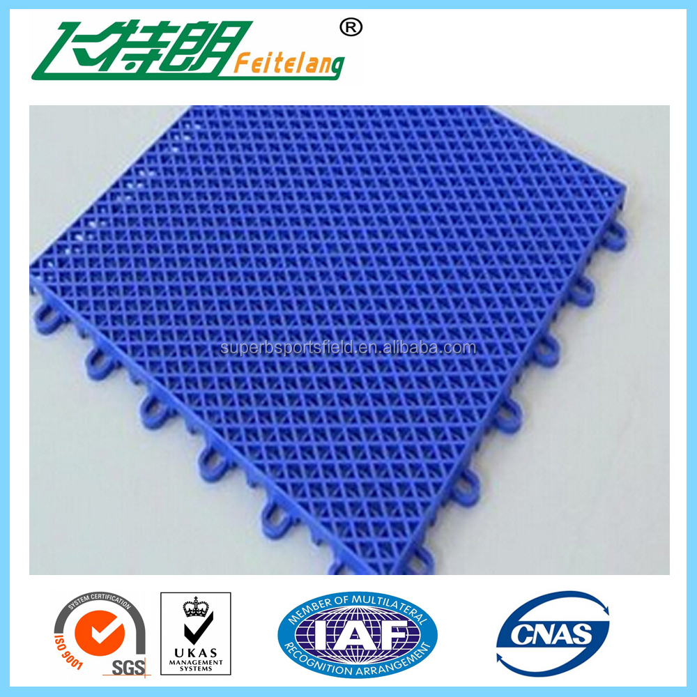 Low price Outdoor Sports PP Interlocking Tiles Basketball Flooring Covering