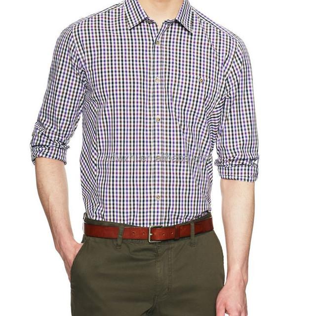 26d135ea19c New design fashion tailor-made graid check casual shirt for men