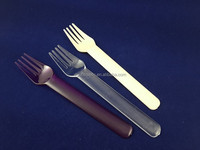 2013 new design disposable plastic spoon and fork/ hard plastic flatware
